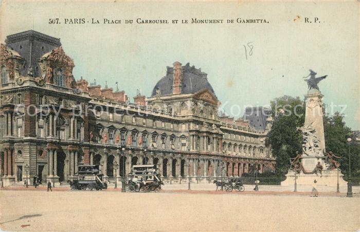 AK / Ansichtskarte Paris Place du Carrousel Monument de Gambetta  Paris