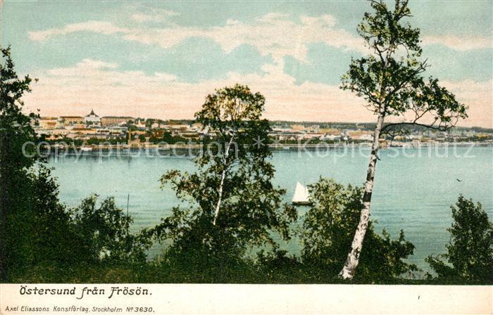 AK / Ansichtskarte oestersund fran Froesoen oestersund
