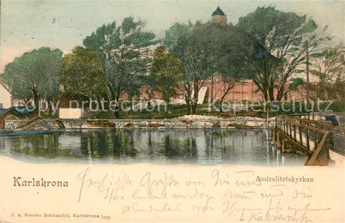 AK / Ansichtskarte Karlskrona Amiralitetskyrkan Karlskrona