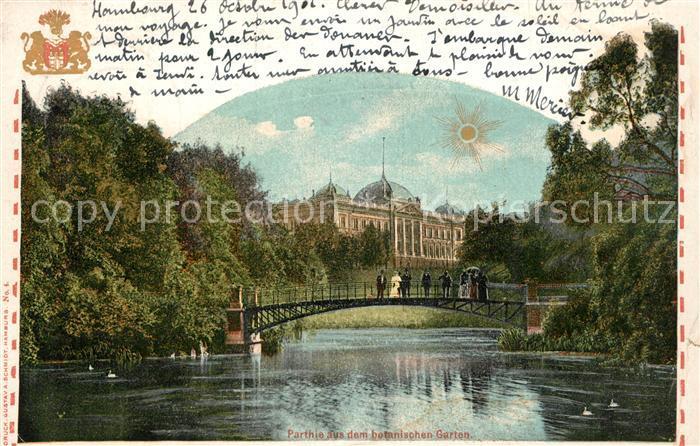 AK / Ansichtskarte Hamburg Partie im Botanischen Garten Hamburg