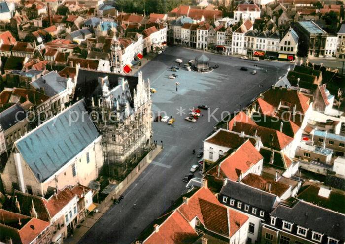 AK / Ansichtskarte Oudenaarde Fliegeraufnahme Gothisch Stadhuis Lakenhalle Oudenaarde