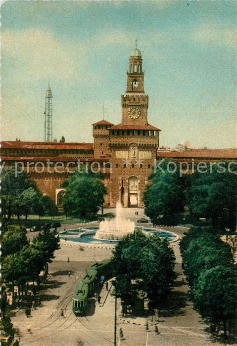 AK / Ansichtskarte Milano Castello Sforzesco Sforza Schloss Milano