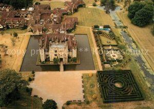 AK / Ansichtskarte Hever_Edenbridge Fliegeraufnahme Castle Village Hever Edenbridge