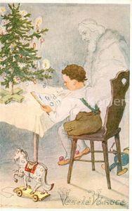 AK / Ansichtskarte Kuenstlerkarte B. Koziny Weihnachten Kind Kinderspielzeug Weihnachtsbaum  Kuenstlerkarte