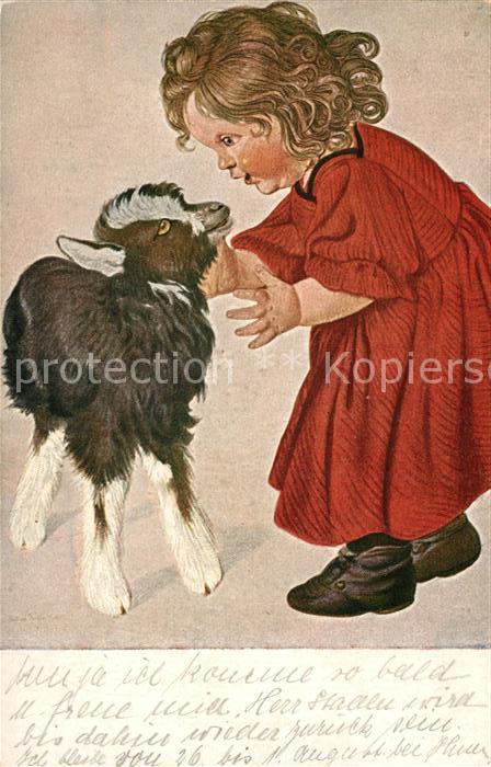 AK / Ansichtskarte Kuenstlerkarte G. Pfeiffer Kohrt Das Zicklein Ziege Kind  Kuenstlerkarte