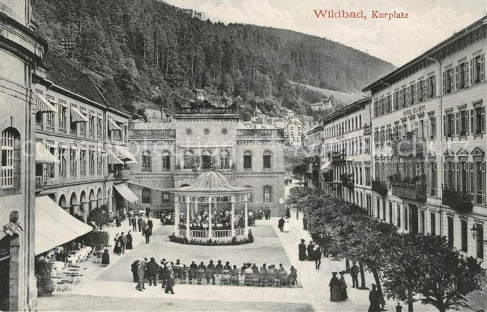 AK / Ansichtskarte Wildbad_Schwarzwald Kurplatz Wildbad_Schwarzwald
