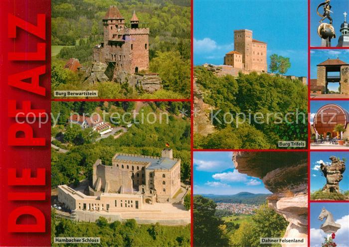 AK / Ansichtskarte Dahn Burg Trifels Berwartstein Hambacher Schloss Dahner Felsenland Dahn