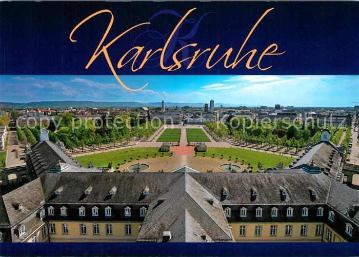 AK / Ansichtskarte Karlsruhe_Baden Blick vom Schloss auf Stadt Karlsruhe_Baden