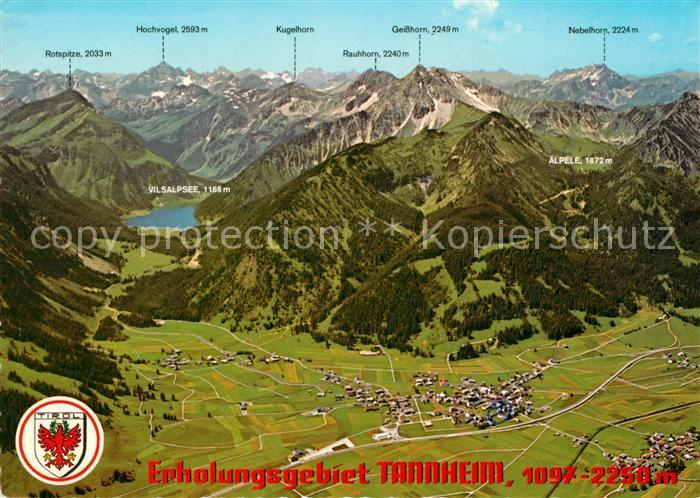 Tannheimer Tal Karte.Ak Ansichtskarte Tannheim Tirol Erholungsgebiet Tannheimer Tal Allgaeuer Alpen Fliegeraufnahme Tannheim Tirol