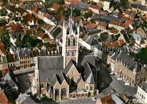 AK / Ansichtskarte Enghien_Hainaut Centre ville Eglise vue aerienne Enghien Hainaut