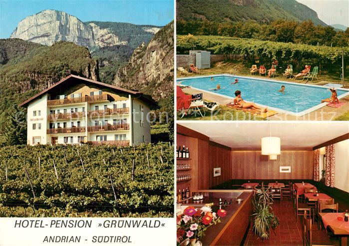 AK / Ansichtskarte Andrian Hotel Pension Gruenwald Swimming Pool Alpen Andrian