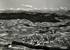 AK / Ansichtskarte Konolfingen_BE Alpenpanorama Fliegeraufnahme Konolfingen BE