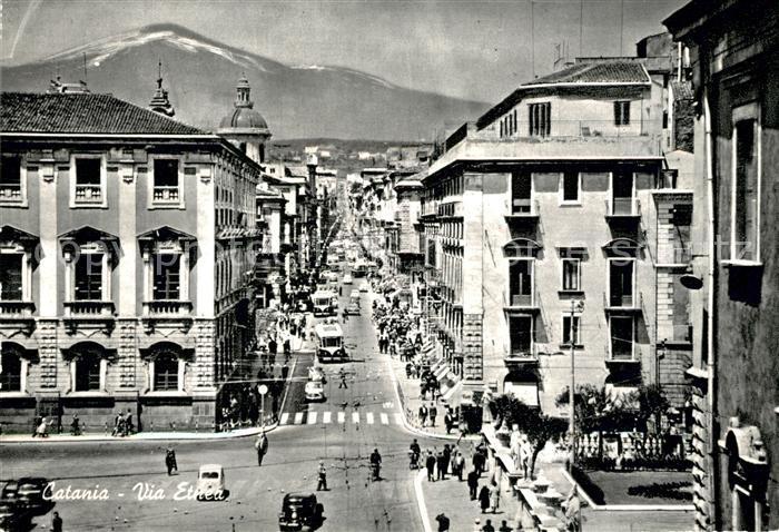AK / Ansichtskarte Catania Via Etnea Vulkan aetna Catania