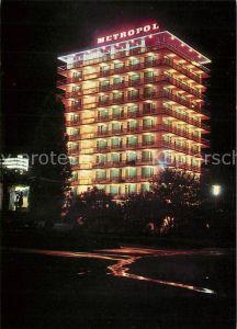 AK / Ansichtskarte Zlatni_Piassatzi Hotel Metropol Nachtaufnahme Zlatni_Piassatzi