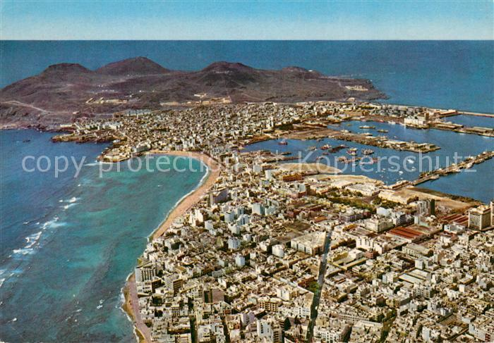 AK / Ansichtskarte Las_Palmas_de_Gran_Canaria Fliegeraufnahme Las_Palmas