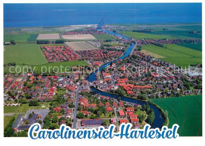 AK / Ansichtskarte Carolinensiel Harlesiel_Ostfriesland Fliegeraufnahme Carolinensiel Harlesiel