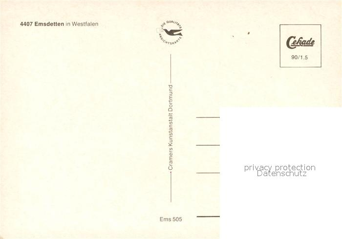AK / Ansichtskarte Emsdetten Fliegeraufnahme Emsdetten 1