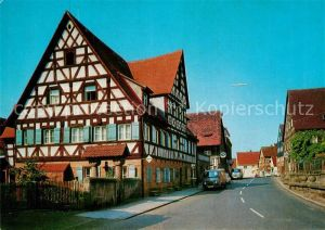 AK / Ansichtskarte Zirndorf_Mittelfranken Pressleinshaus Fachwerkhaus Historisches Gebaeude Zirndorf Mittelfranken