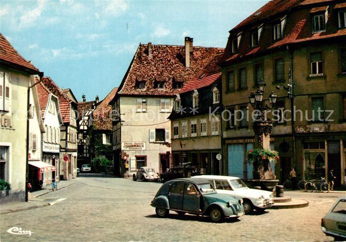 AK / Ansichtskarte Wissembourg Place du Marche aux choux Wissembourg