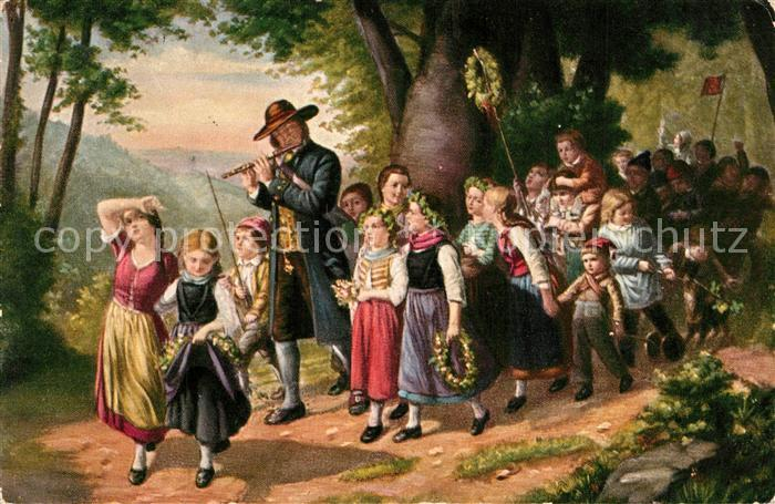 AK / Ansichtskarte Kuenstlerkarte C. E. Boettcher Der Spaziergang  Kuenstlerkarte