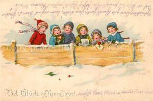 AK / Ansichtskarte Neujahr Kinder Muff  Neujahr