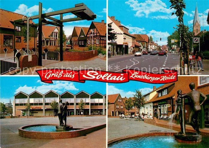AK / Ansichtskarte Soltau Brunnen Soltau
