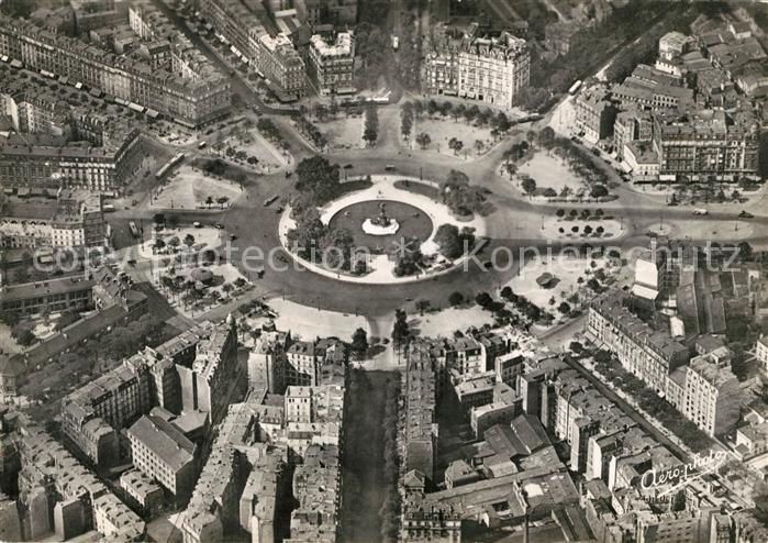 AK / Ansichtskarte Paris Place de la Nation vue aerienne Paris