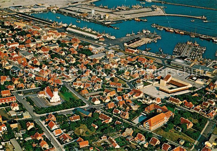 AK / Ansichtskarte Skagen Hafen Fliegeraufnahme Skagen