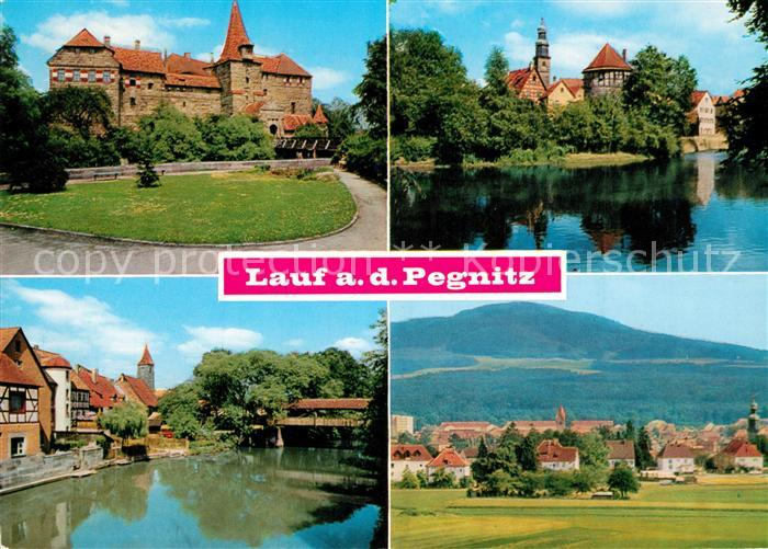 AK / Ansichtskarte Lauf_Pegnitz Kaiser Wenzel Burg Spitalhof Pegnitz mit Judenturm Moritzburg Lauf Pegnitz