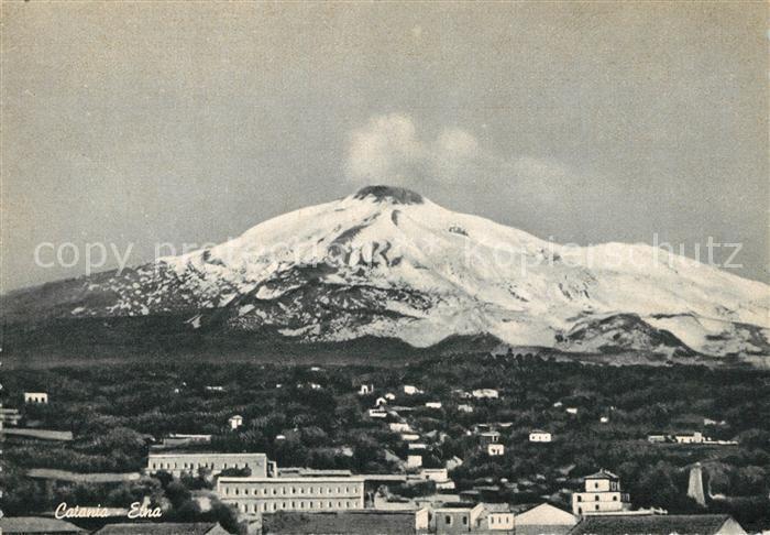 AK / Ansichtskarte Catania Der Aetna Catania