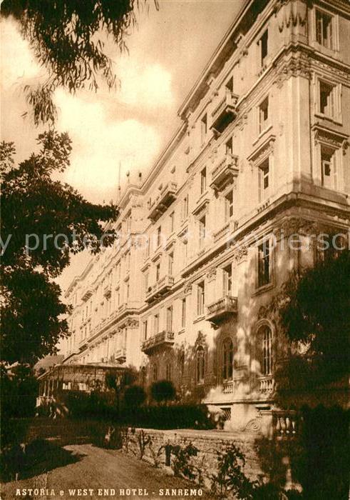 AK / Ansichtskarte Sanremo Astoria e West End Hotel Sanremo