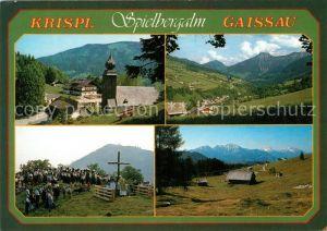 AK / Ansichtskarte Krispl mit Gaissau Spielbergalm Kirche Prozession Panorama Krispl