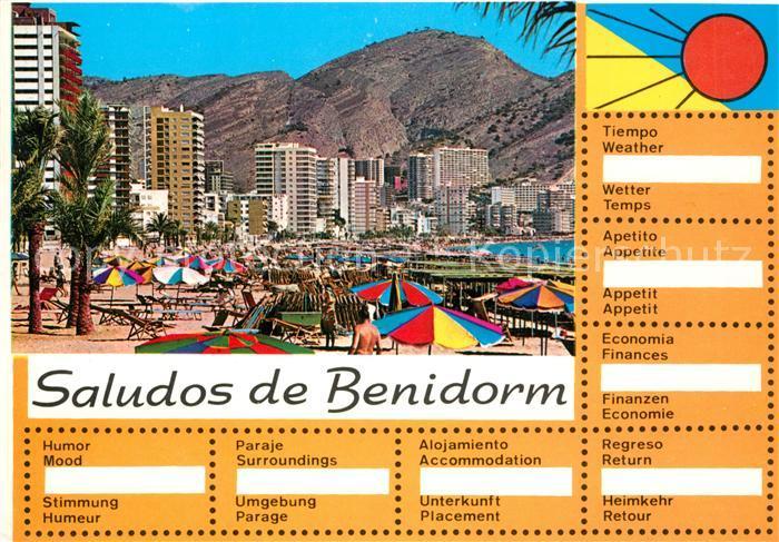 AK / Ansichtskarte Benidorm  Benidorm