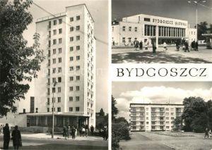 AK / Ansichtskarte Bydgoszcz_Pommern Dom Filharmonika Dworzec kolejowy Osiedle mieszkaniowe Park Ludowy Bydgoszcz Pommern