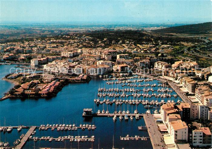 AK / Ansichtskarte Cap d_Agde Le Port de plaisance Ile St Martin vue aerienne Cap d_Agde