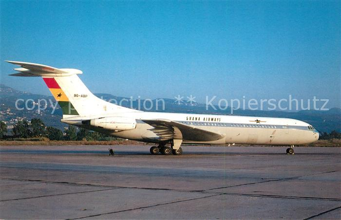 AK / Ansichtskarte Flugzeuge_Zivil Ghana Airways Vickers VC 10 1102 9G ABP c n 824  Flugzeuge Zivil