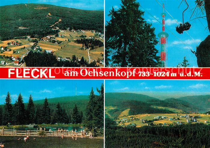 AK / Ansichtskarte Fleckl Sesselbahn Fernsehturm Ochsenkopf Fleckl