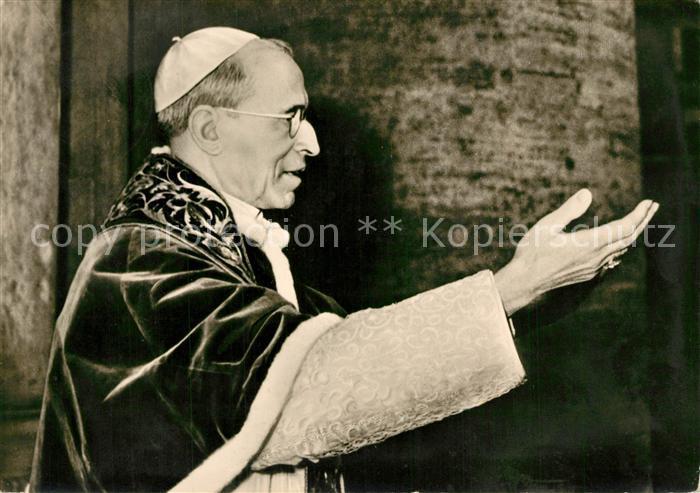 AK / Ansichtskarte Papst Pius XII. Spendenkarte Priesternachwuchs Koenigstein Taunus Papst