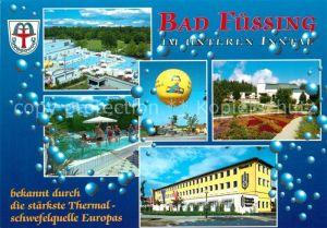 AK / Ansichtskarte Bad_Fuessing Fliegeraufnahme Thermalbad  Bad_Fuessing