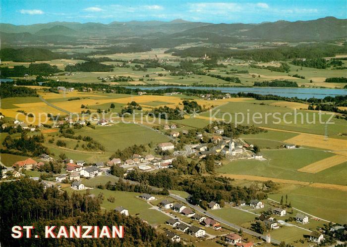 AK / Ansichtskarte St_Kanzian_Klopeiner_See Fliegeraufnahme St_Kanzian_Klopeiner_See