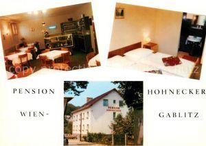 AK / Ansichtskarte Gablitz Pension Hohnecker Gastraum Fremdenzimmer Gablitz