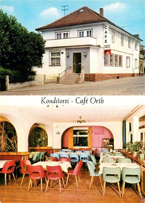 AK / Ansichtskarte Zell_Odenwald Konditorei Cafe Orth Zell Odenwald