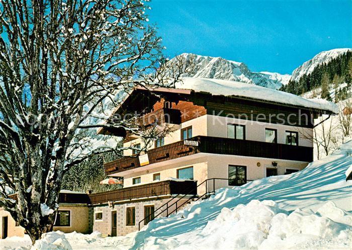 AK / Ansichtskarte Muehlbach_Hochkoenig Gasthaus Sonnhof Winterlandschaft Alpen Muehlbach Hochkoenig