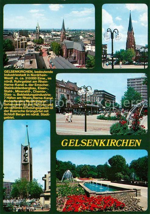 AK / Ansichtskarte Gelsenkirchen Marktplatz Stadtpark Stadtansicht Chronik Gelsenkirchen
