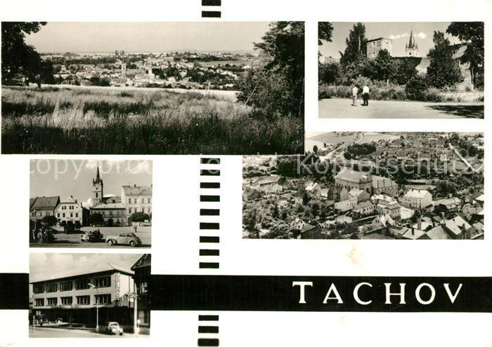 AK / Ansichtskarte Tachov Panorama Marktplatz Kirche Fliegeraufnahme Tachov