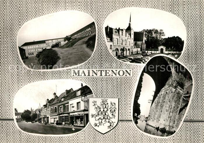 AK / Ansichtskarte Maintenon College Hotel de Ville Aqueduc Chateau Centre Maintenon