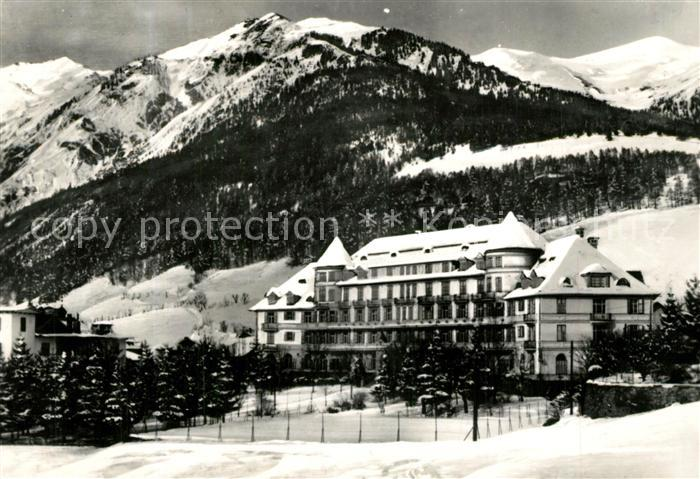 AK / Ansichtskarte Colle Isarco Palace Hotel am Brenner Winterpanorama Colle Isarco