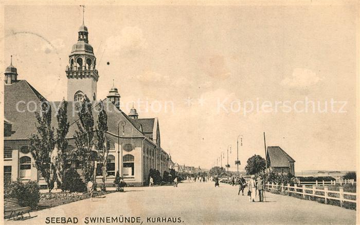 AK / Ansichtskarte Swinemuende Seebad Kurhaus Swinemuende