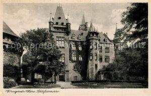 AK / Ansichtskarte Wernigerode_Harz Schlossterrasse Wernigerode Harz