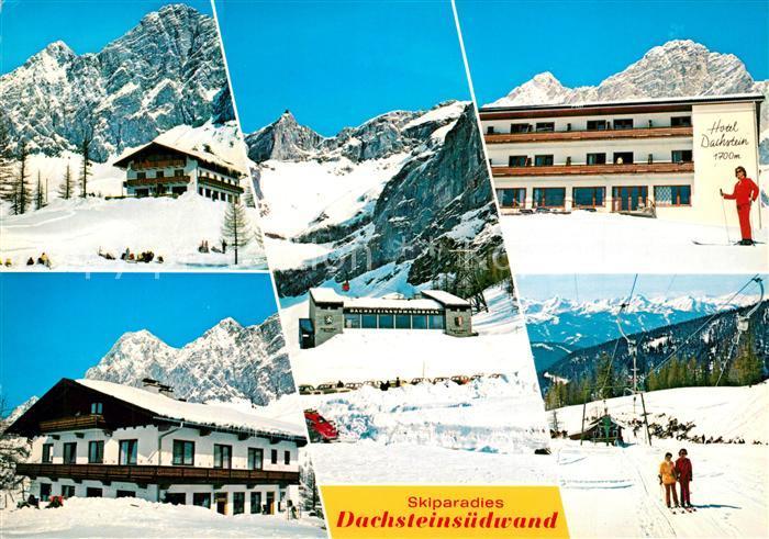 Ramsau_Dachstein_Steiermark Skiparadies Dachsteinsuedwand Berghotels Bergbahn Ramsau_Dachstein